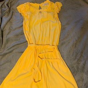 Yellow LOFT dress